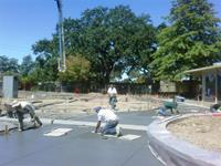 Large concrete project at Willowside Middle School in Santa Rosa
