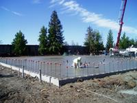 This large 40,000 sf commercial slab foundation was poured using a laser screed.