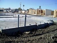 One of many post tension slab foundation completed for this project.